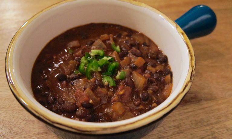 Chipotle & Cocoa Spiced Black Bean Soup