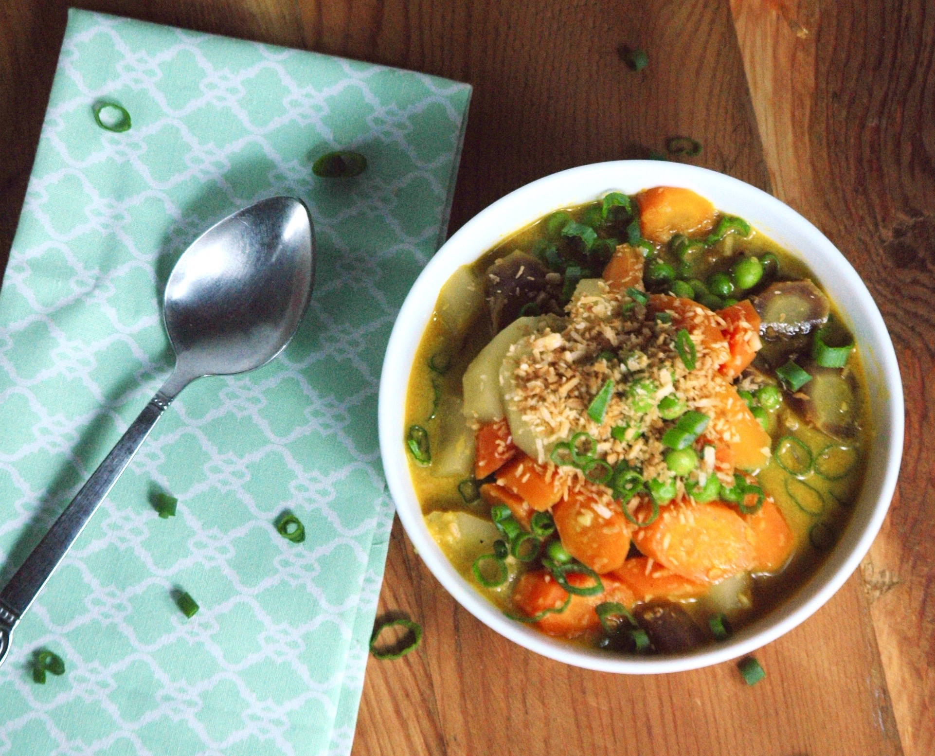 Toasted Coconut Vegetable Curry