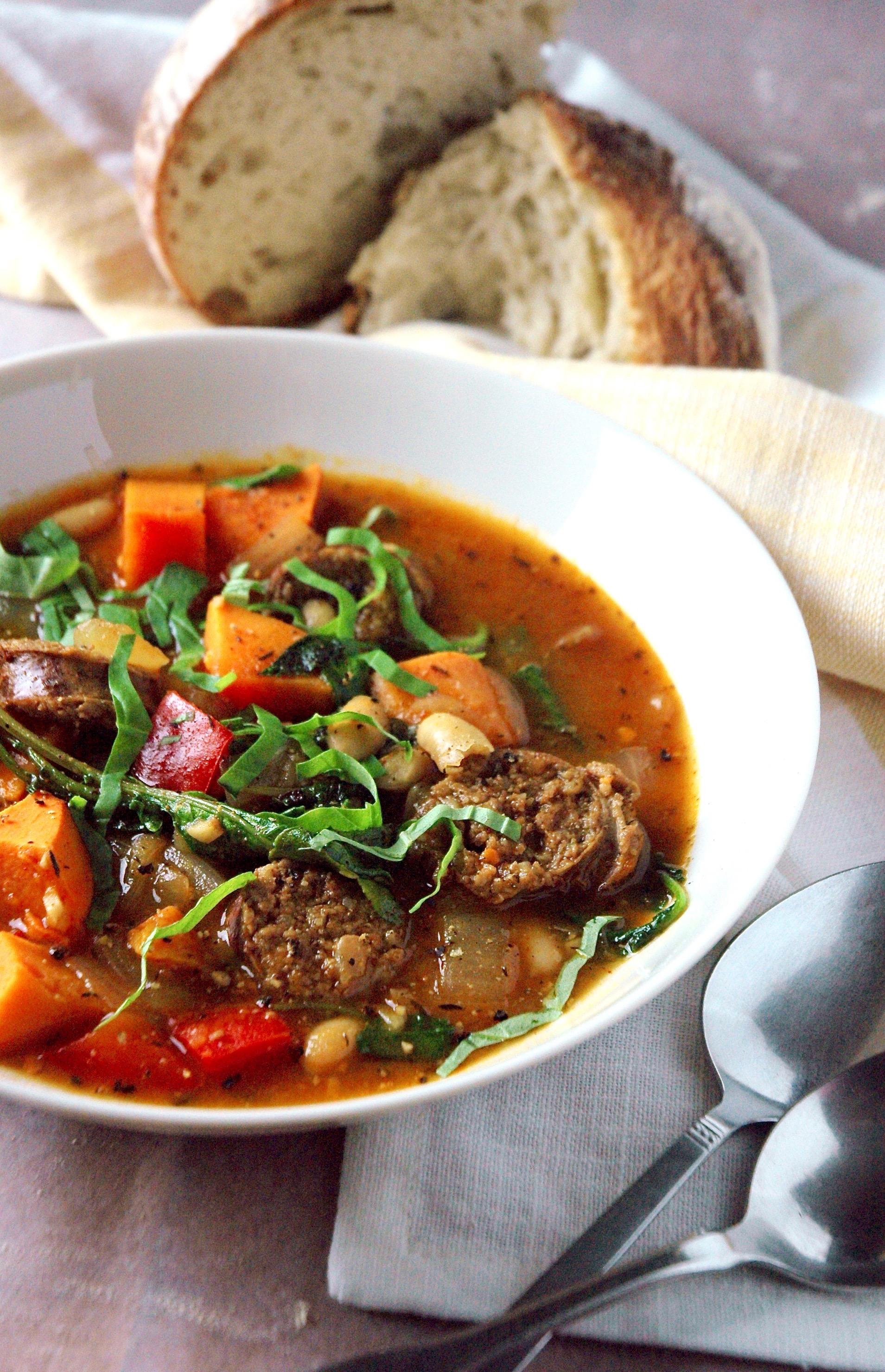 Chorizo Kale & Sweet Potato Stew