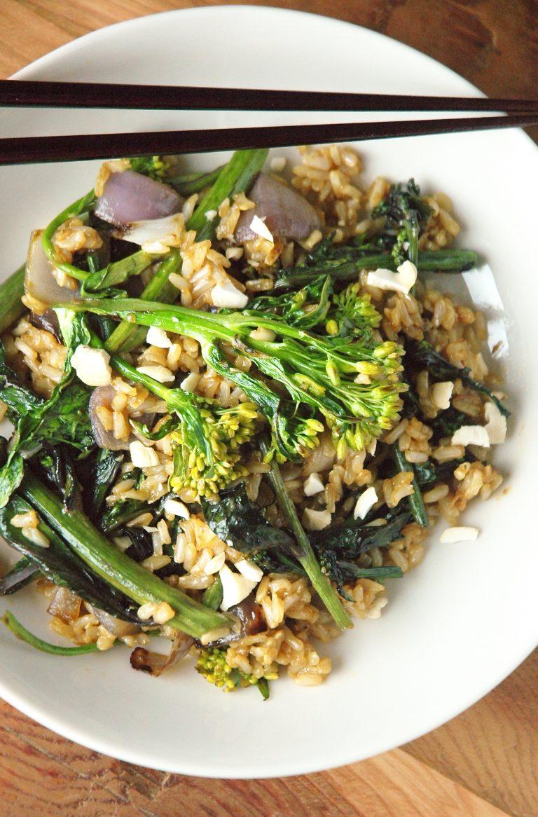 Flowering Kale Stir Fry