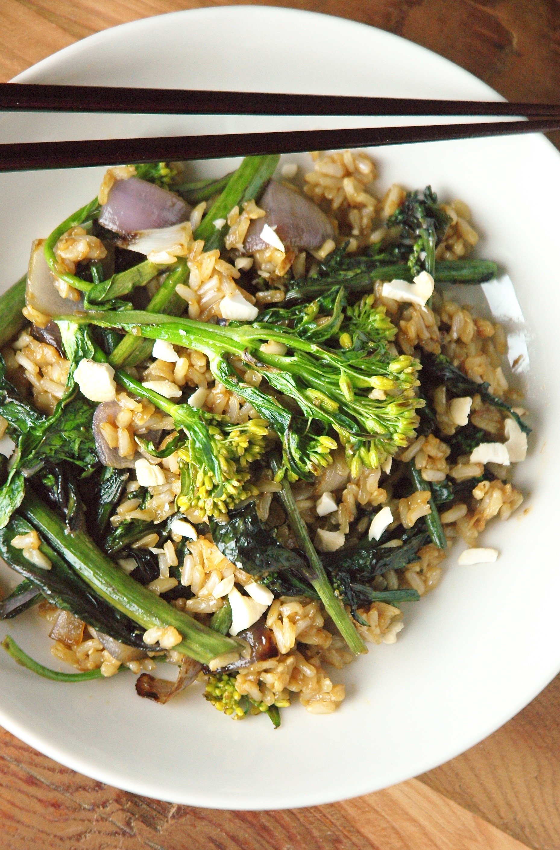 Flowering Kale Stir Fry