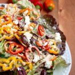 Mediterranean Rainbow Pepper Salad
