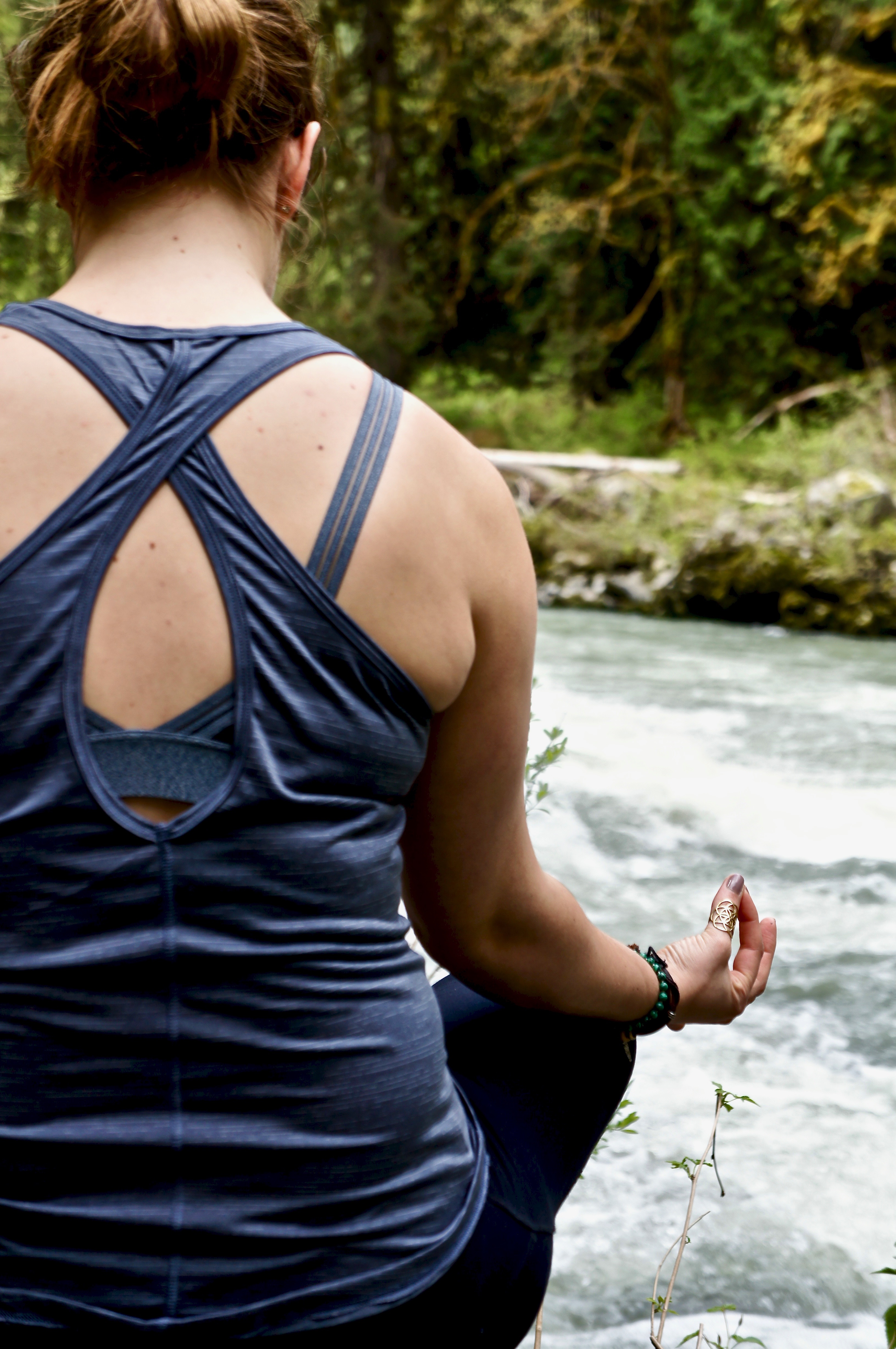 Yoga and meditation at the Stillaguamish river