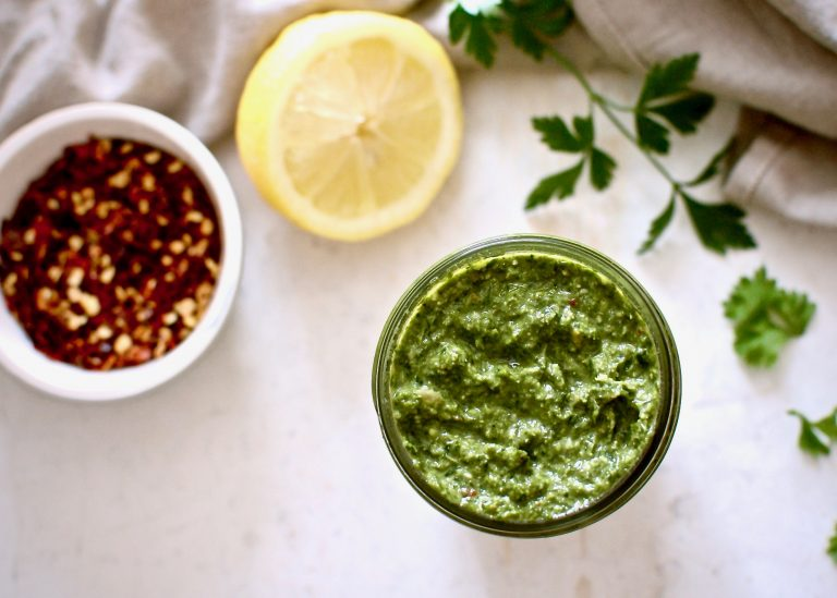 carrot green pesto | kaleandcompass.com